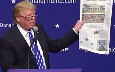 OPEN SEASON ON DONALD TRUMP: CORPORATE PRESS PROPAGANDA AT BEHEST OF CLINTON CAMPAIGN